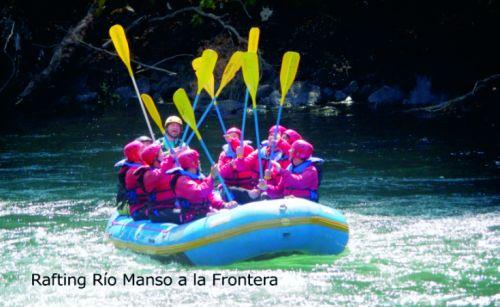 Rafting en el Río Manso a la Frontera